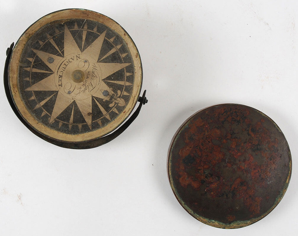 Drycard compass made by Walter Folger Jr.