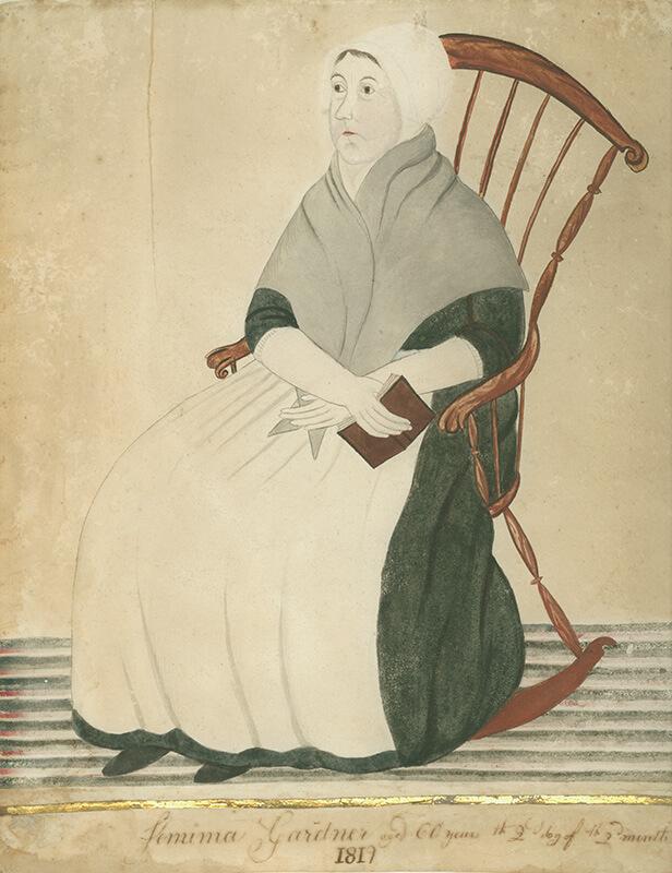 Jemima Coffin Gardner, 1819