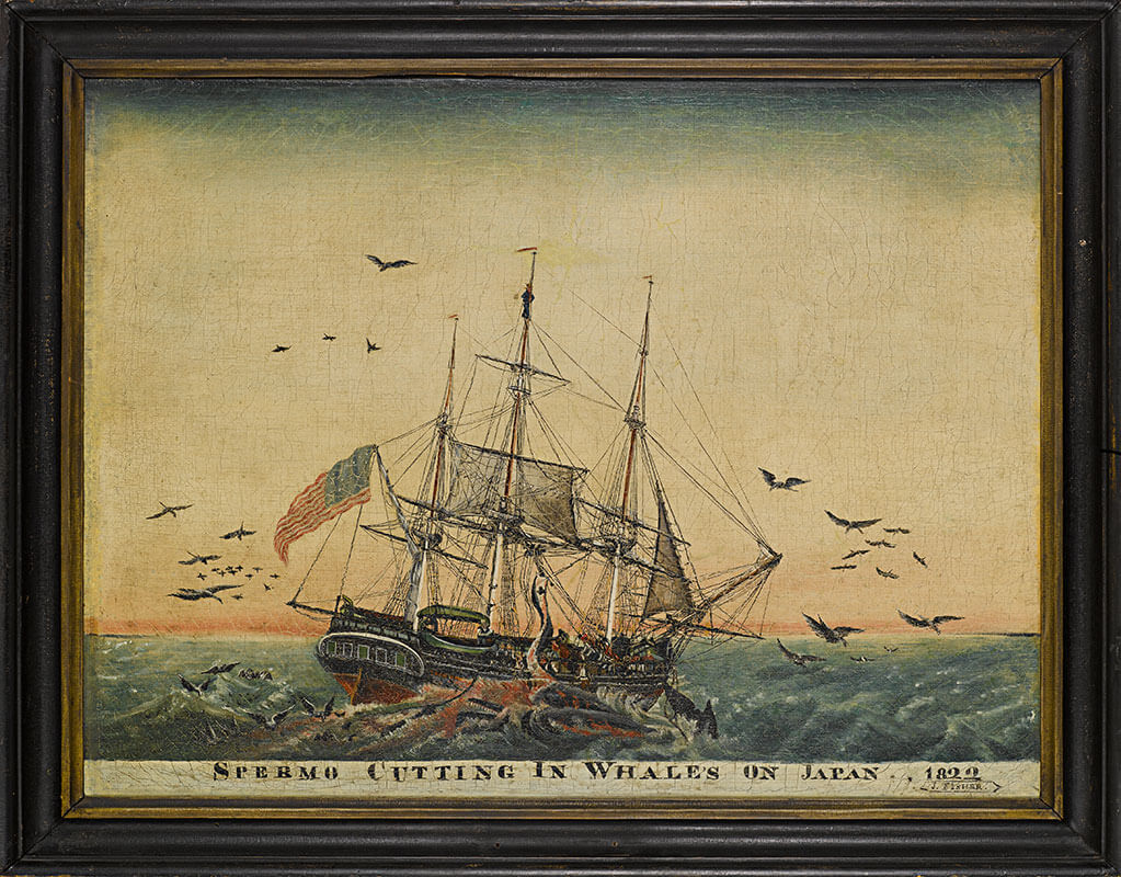 Spermo Cutting In Whales On Japan, 1822